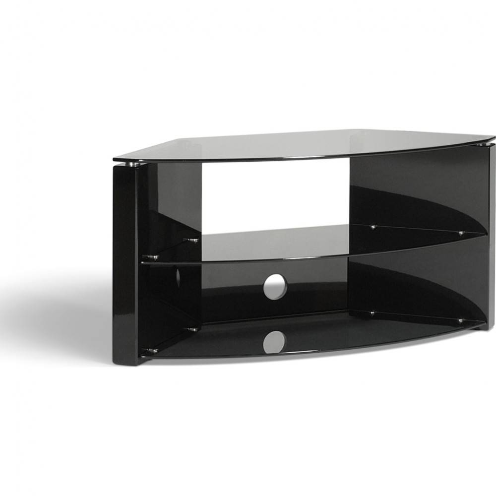 Ideal For Corner Installations; Simple Tension Rod Assembly regarding Techlink Bench Corner Tv Stands (Image 2 of 15)