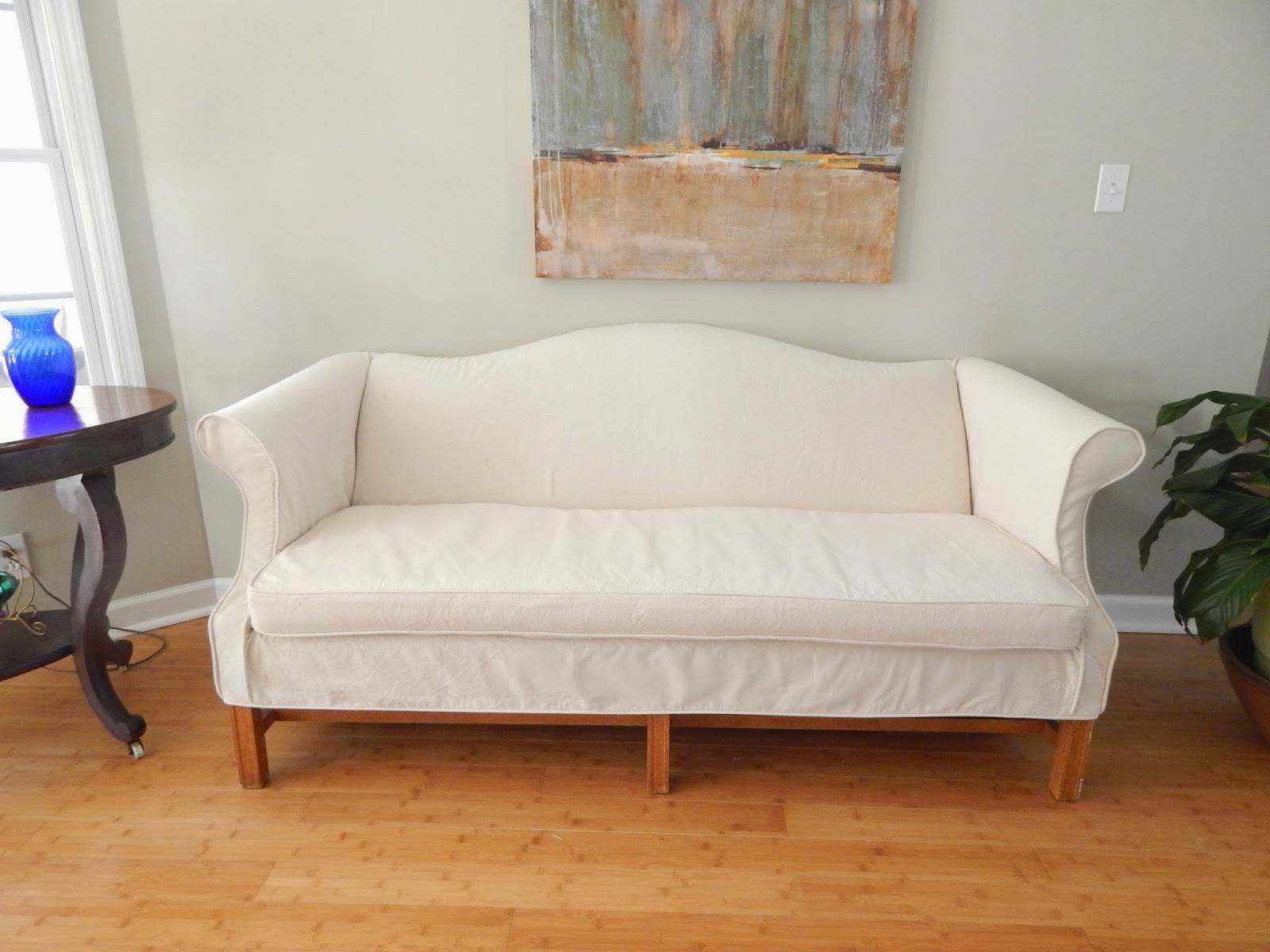 Ideas: Canvas Couch Covers | Pottery Barn Slipcovers | Linen Sofa with regard to Canvas Sofa Slipcovers (Image 8 of 15)
