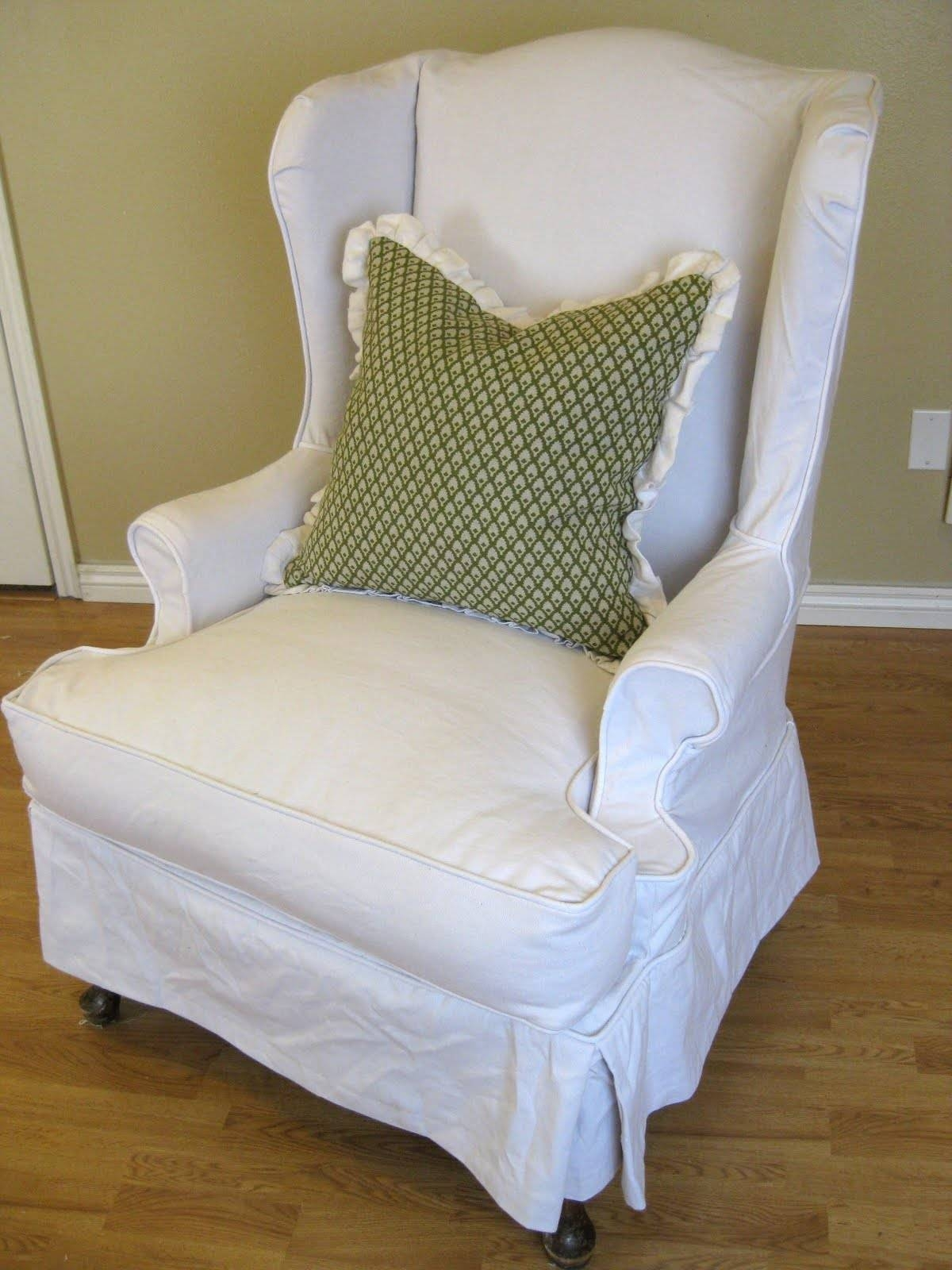 Ideas: Chic Pottery Barn Slipcovers For Better Sofa And Chair Look with Pottery Barn Chair Slipcovers (Image 9 of 15)