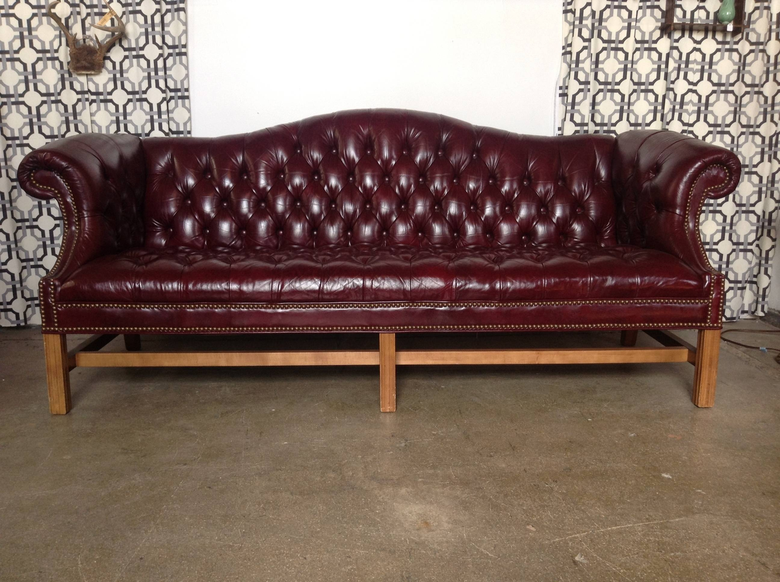 Ideas For Leather Tufted Sofa Design #9307 throughout Camelback Leather Sofas (Image 5 of 15)