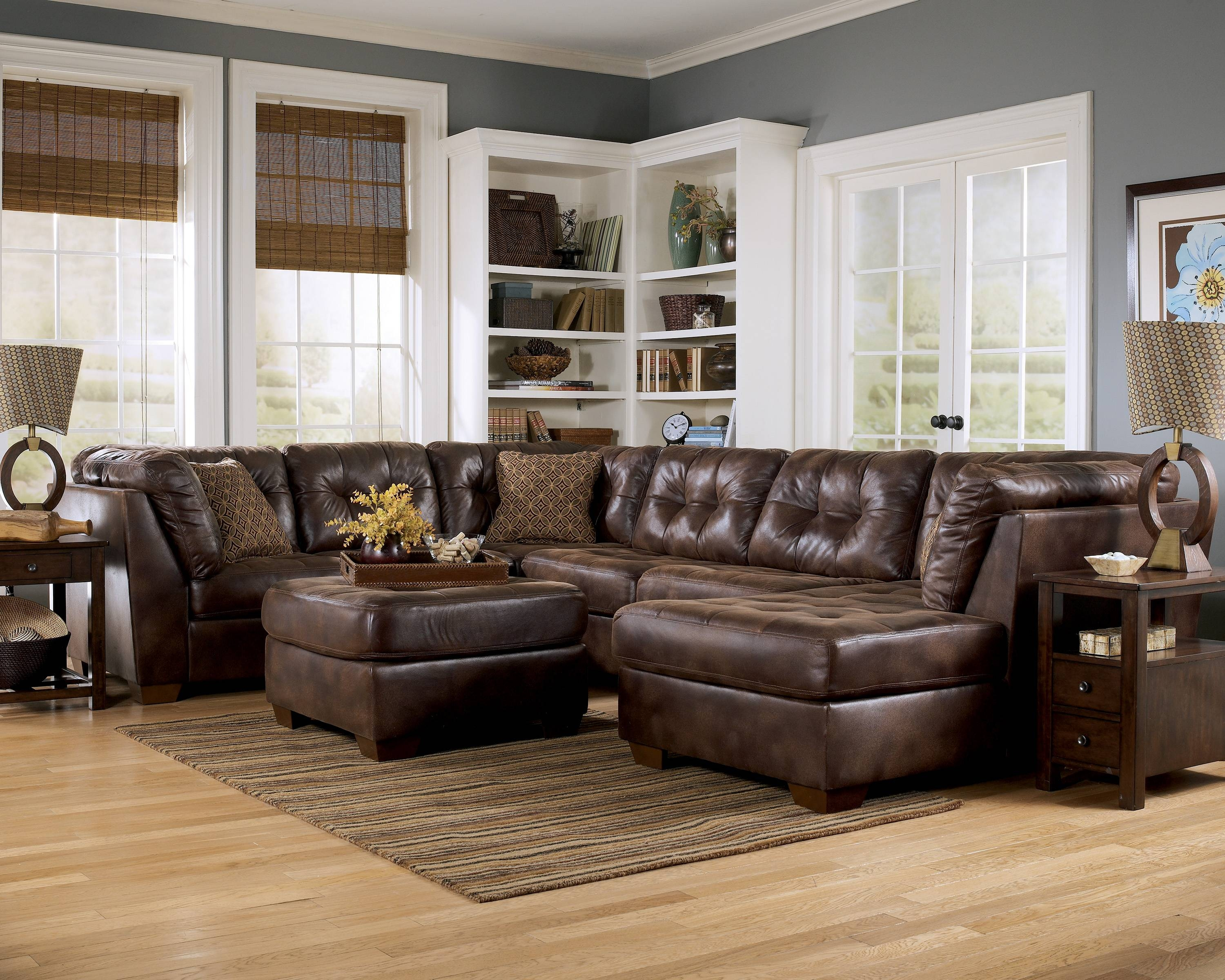 Ideas: Undecent Best Ashley Sectional With Cheap Price For Living with regard to Ashley Faux Leather Sectional Sofas (Image 10 of 15)