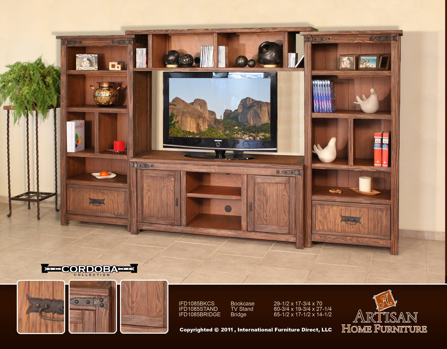 Ifd 1085 Cordoba Wall Unitartisan Furniture for Cordoba Tv Stands (Image 5 of 15)