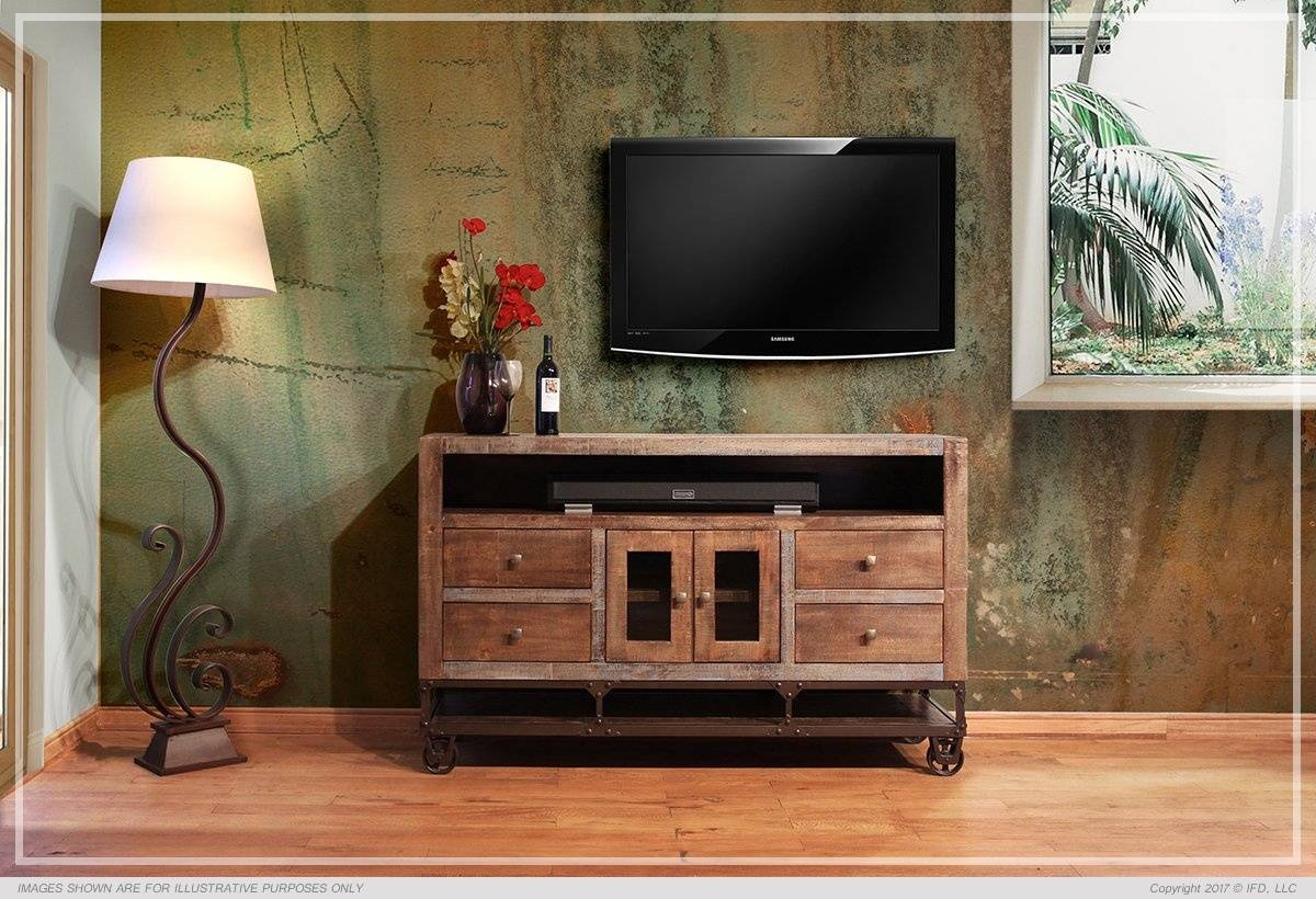 Ifd :: Tv Stands / 560 Urban Gold Intended For Gold Tv Cabinets (View 7 of 15)