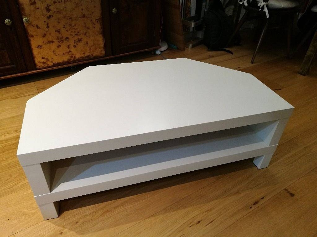 Ikea Besta Corner Tv Unit, White | In London | Gumtree with regard to White Corner Tv Cabinets (Image 4 of 15)