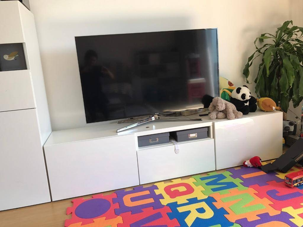 Ikea Besta Tv Stand/ Media Unit/ Tv Table/ Tv Bench | In Cambridge throughout Tv Table (Image 5 of 15)