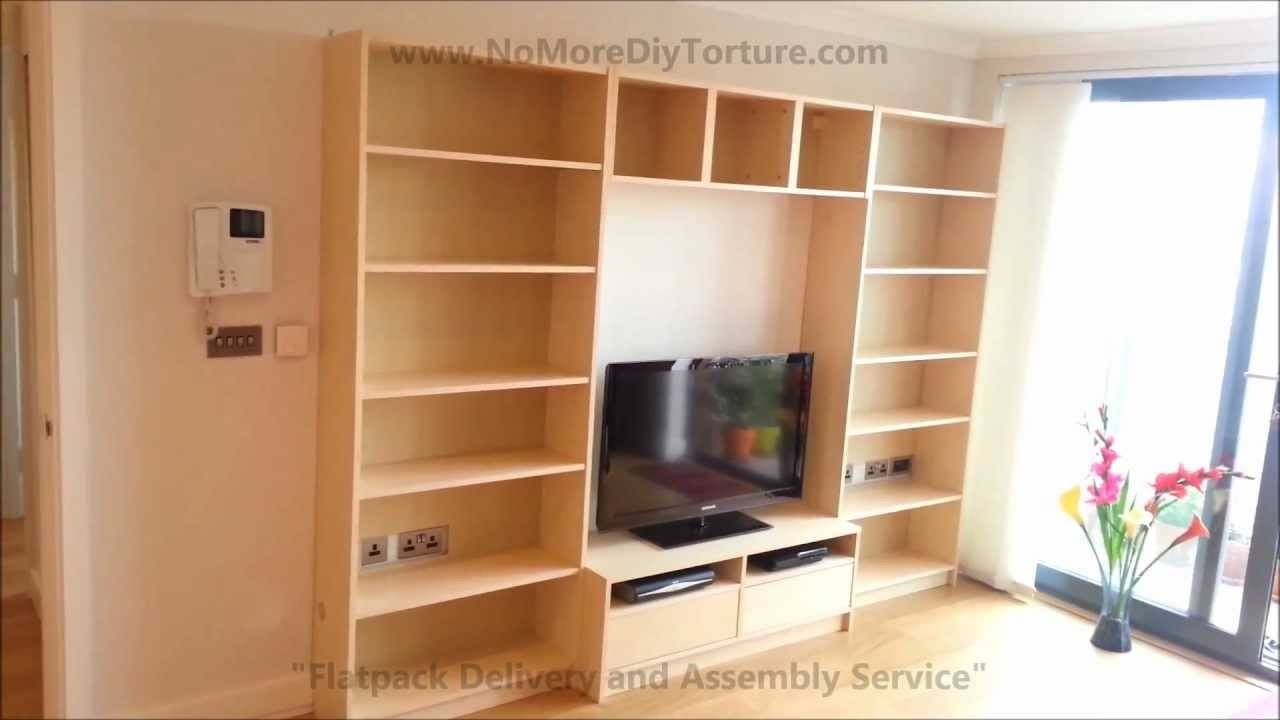 Ikea Billy Benno Tv Stand With Storage - Youtube intended for Tv Stands With Bookcases (Image 6 of 15)