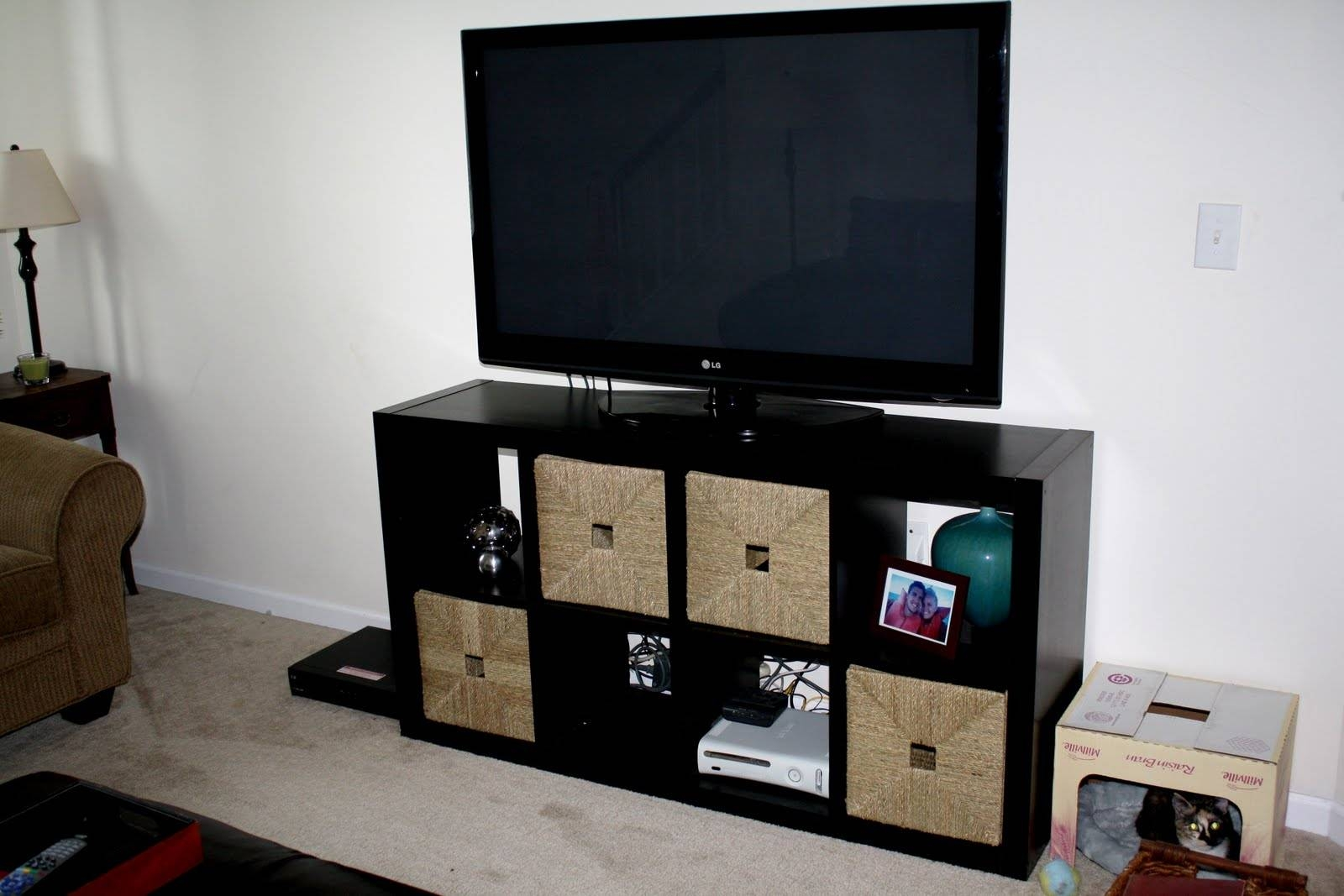 Ikea Expedit Bookcase Tv Stand – Thesecretconsul Inside Tv Stands With Bookcases (View 13 of 15)