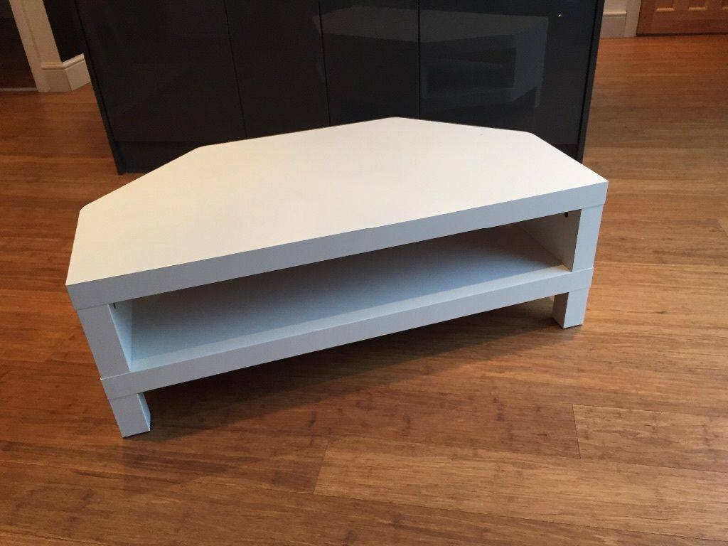 Ikea Lack Corner Tv Unit In White | In Rhiwbina, Cardiff | Gumtree With White Corner Tv Cabinets (View 4 of 15)