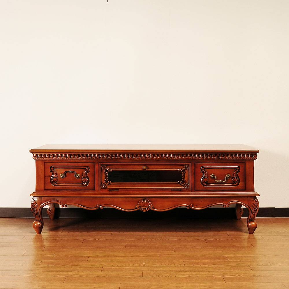 Import Interior Aper Son | Rakuten Global Market: Solid Material Regarding Mahogany Tv Stands (View 14 of 15)