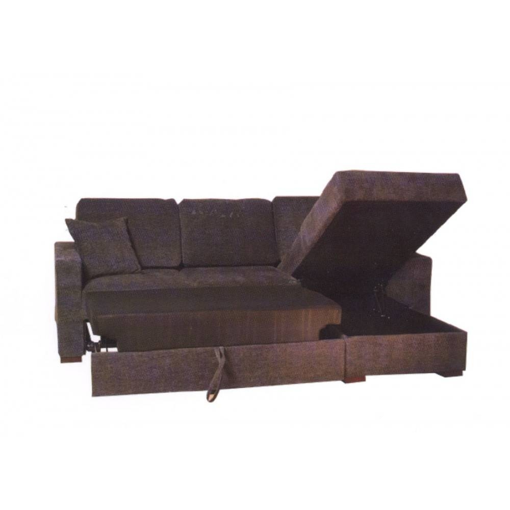 Incognito Sectional Sofa Bed | Storage Chaise | Graphite Finish pertaining to Chaise Sofa Beds With Storage (Image 7 of 15)