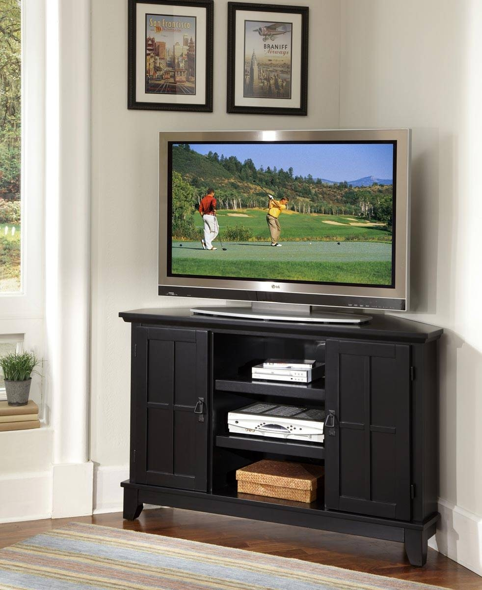 Incredible Tv Cabinet Of With Stands Flat Panel Cart Design within Black Corner Tv Cabinets (Image 7 of 15)