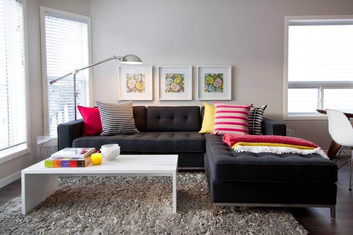 Innovative Decoration Black Couch Living Room Unthinkable 20 regarding Black Sofas Decors (Image 10 of 15)
