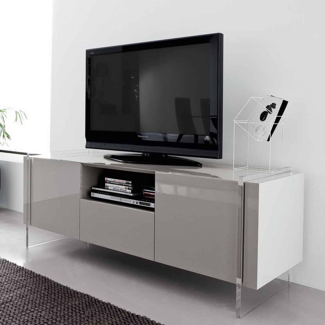 Innovative-Tv-Stand-For-Home-Entertainment-Room-With-Three with regard to Acrylic Tv Stands (Image 7 of 15)