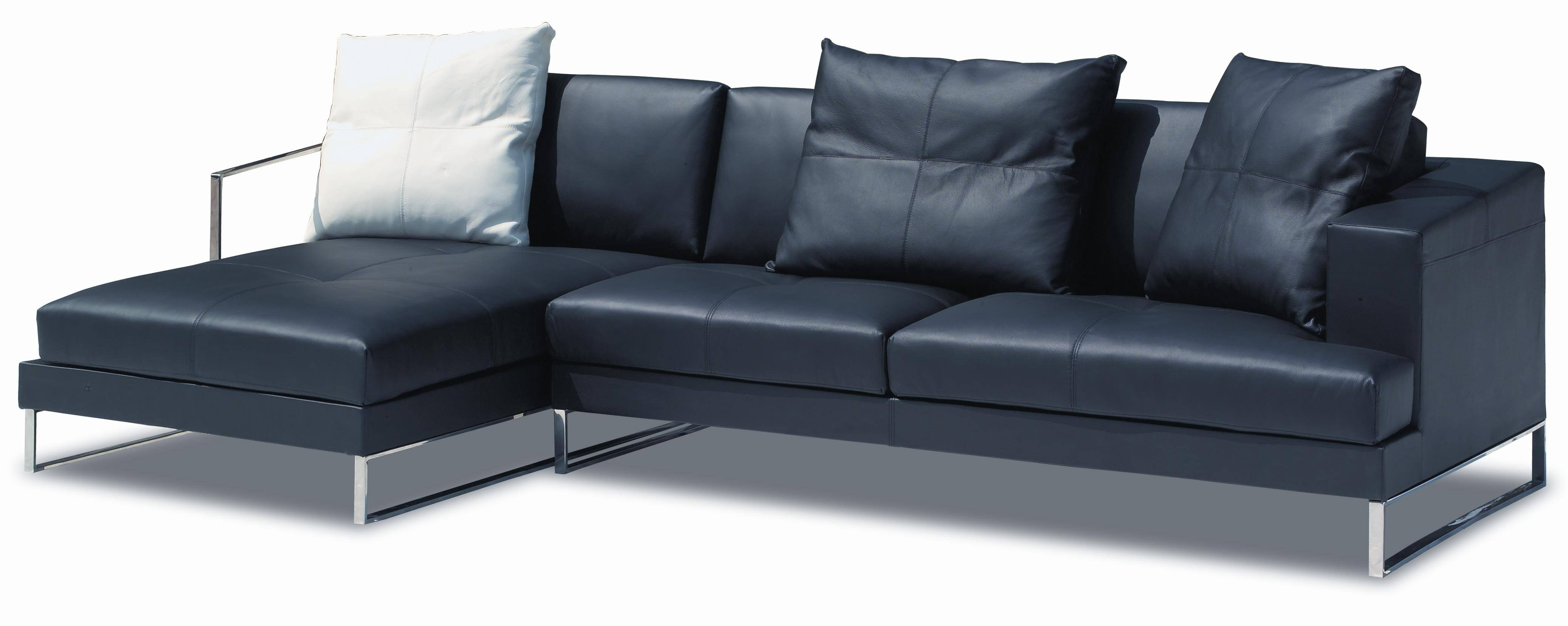 Inspiration Idea Black Leather Sofa With Chaise And Corner Sofas with Black Leather Corner Sofas (Image 10 of 15)