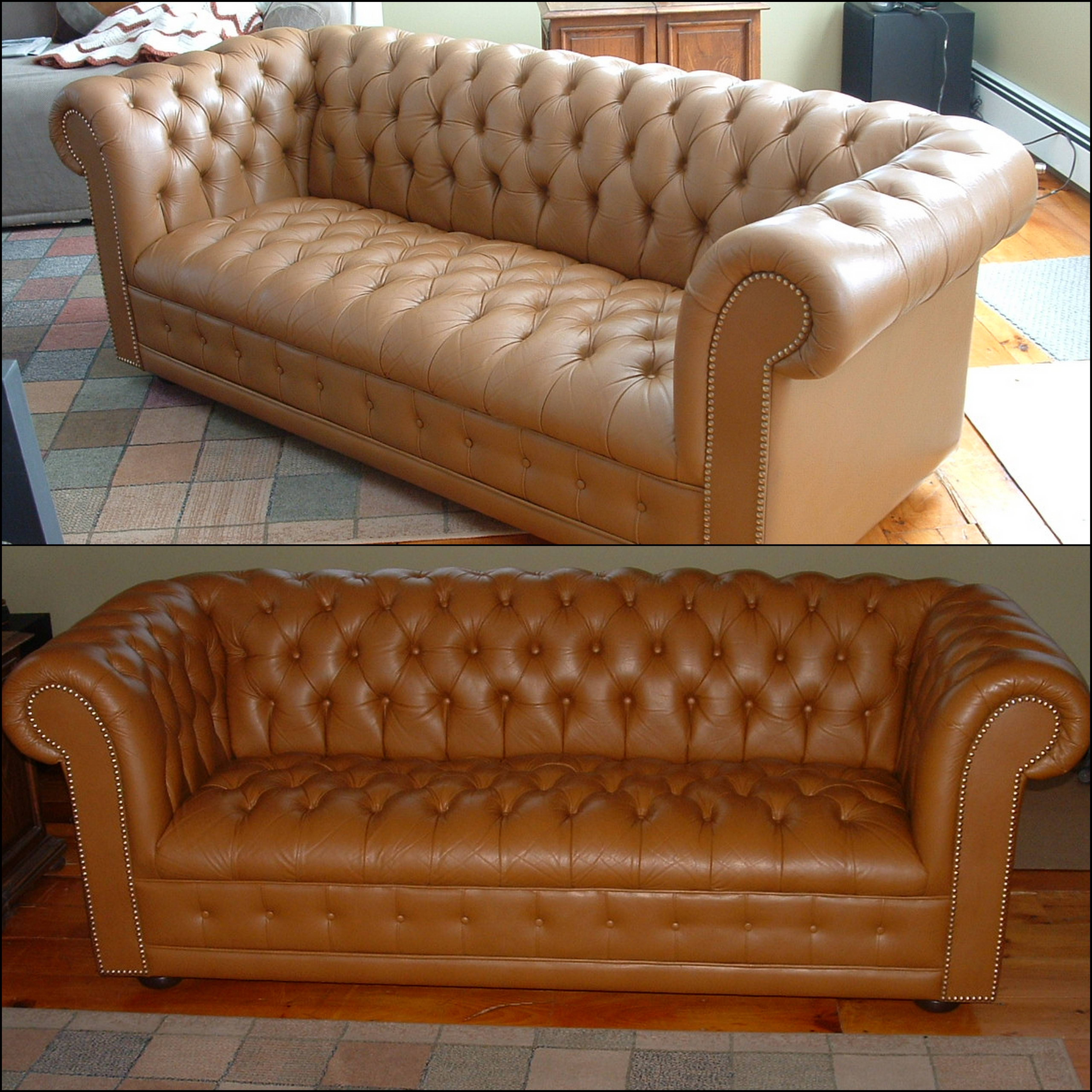 Popular Photo of Camel Colored Leather Sofas