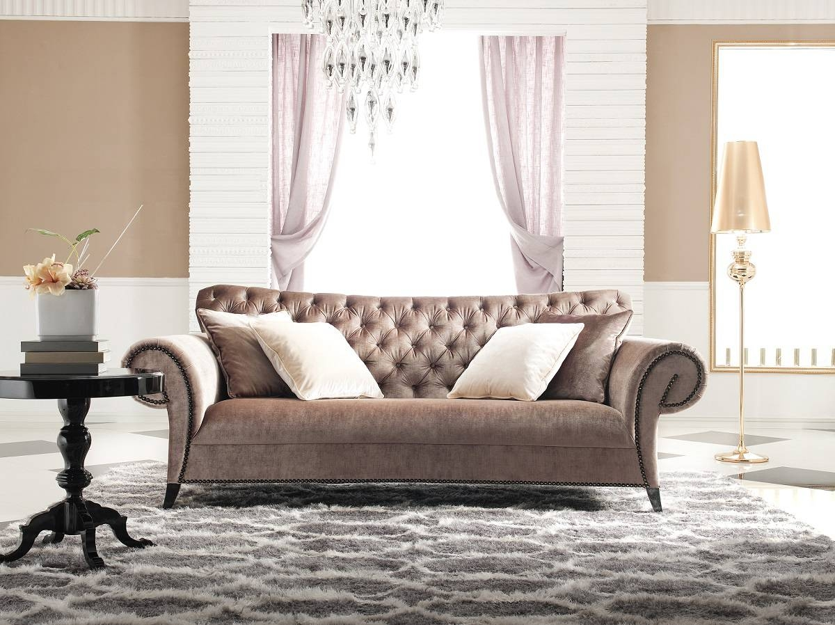 Inspirational Tufted Velvet Sofa 97 For Sofa Design Ideas With with Brown Velvet Sofas (Image 9 of 15)