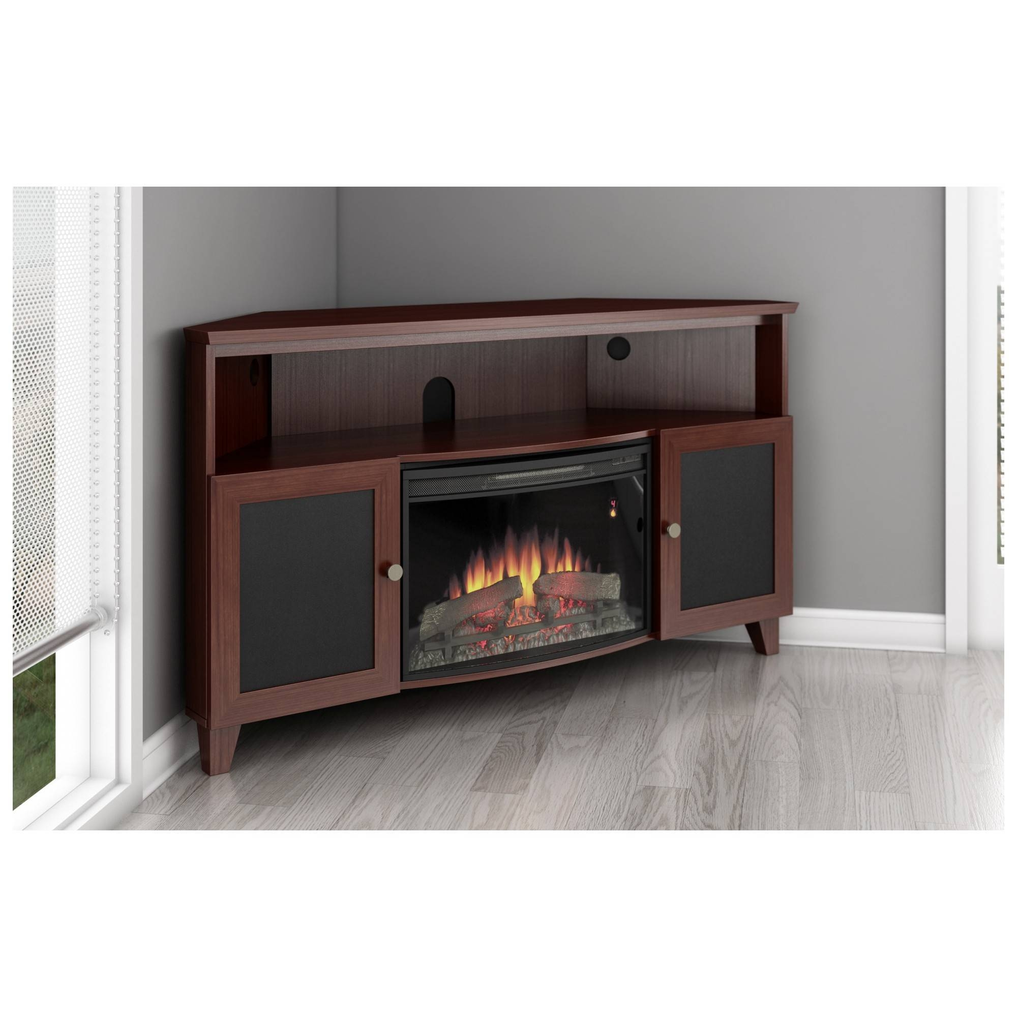 Inspirations: Corner Fireplace Electric Tv Stand Corner Fireplace Throughout Cornet Tv Stands (View 5 of 15)