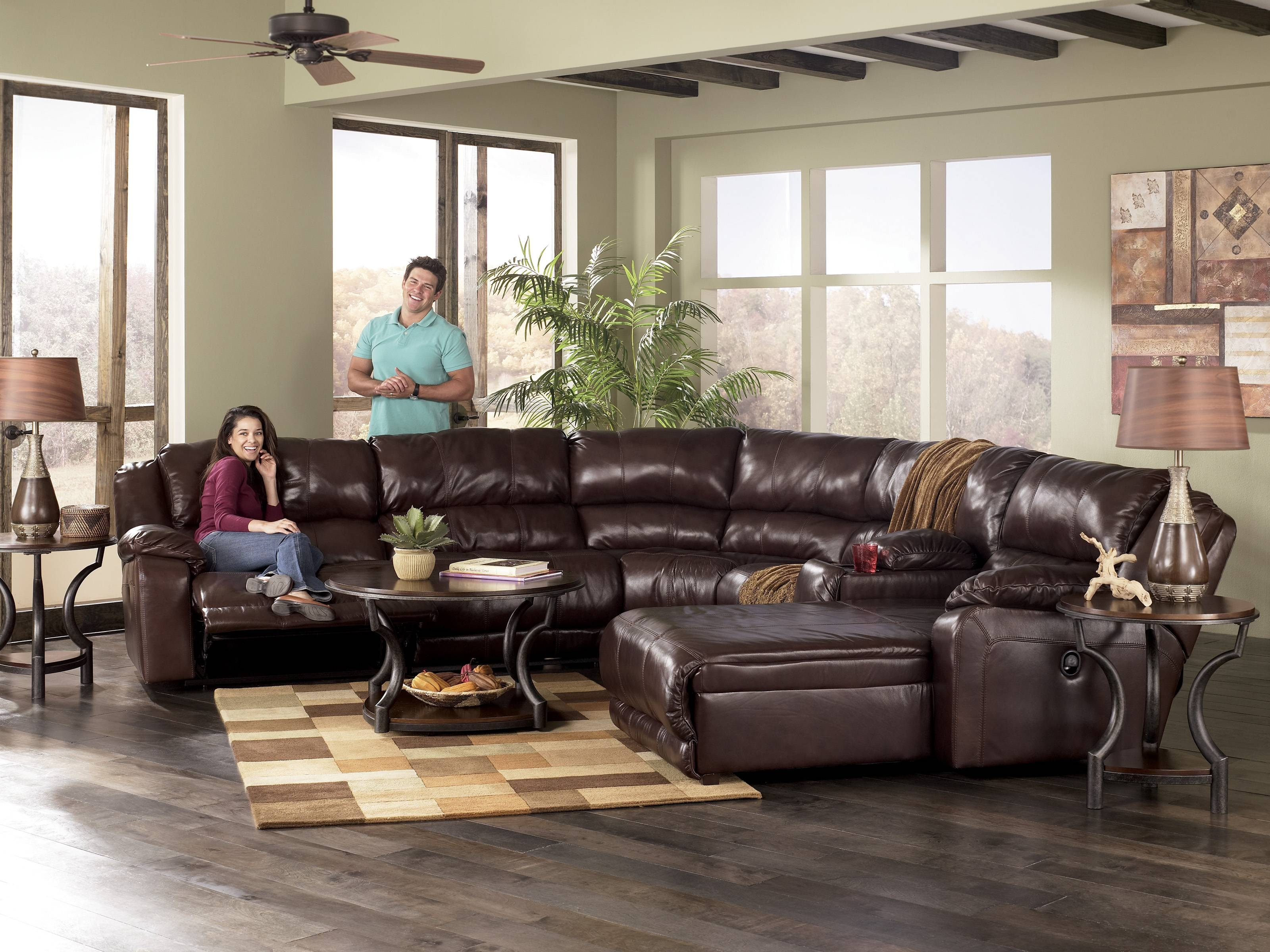 Inspiring Faux Leather Sectional Sofa Ashley 69 For Reclining in Ashley Faux Leather Sectional Sofas (Image 11 of 15)