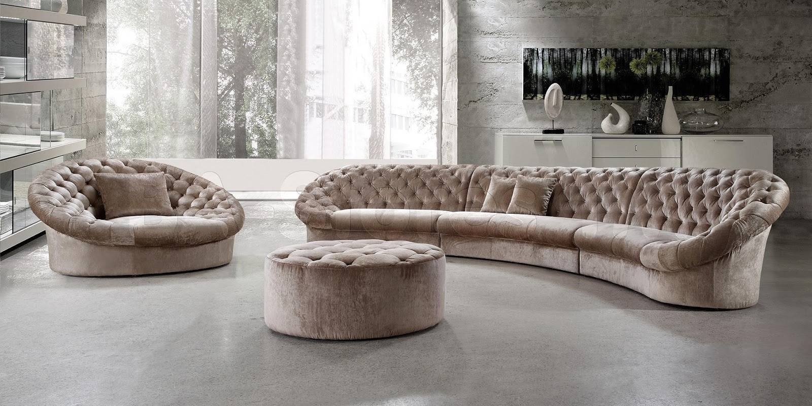Interesting Semi Circular Sofas Sectionals 70 With Additional regarding Semi Sofas (Image 6 of 15)