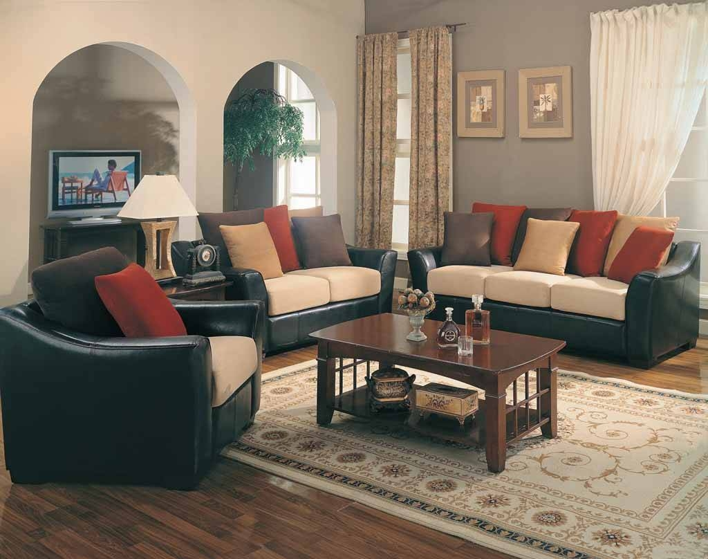 Interior : Exciting Living Room Decoration Feature Black Leather pertaining to Black Sofas Decors (Image 11 of 15)