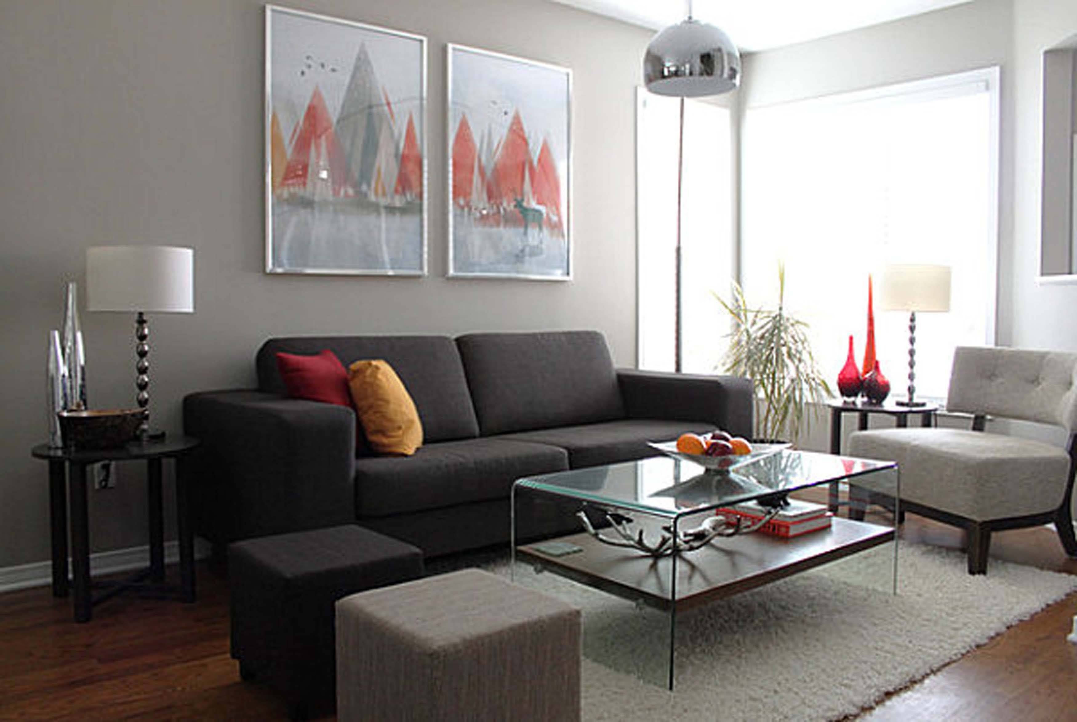 Interior Ideas Gorgeous Modern Couches For Small Spacesgray with Living Room With Grey Sofas (Image 11 of 15)