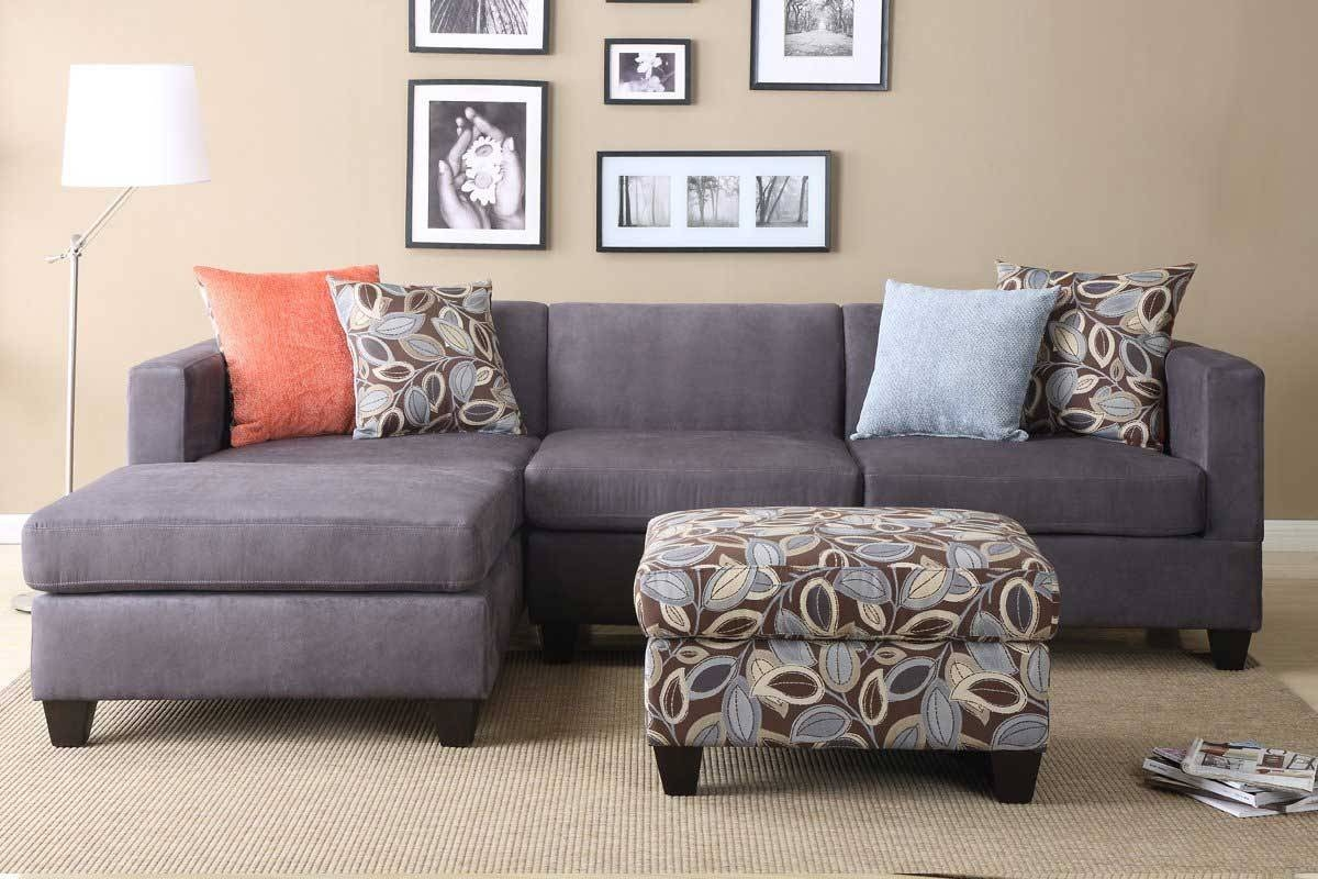 Interior: Impressive Microsuede Sectional Collections Sets For within Microsuede Sleeper Sofas (Image 6 of 15)