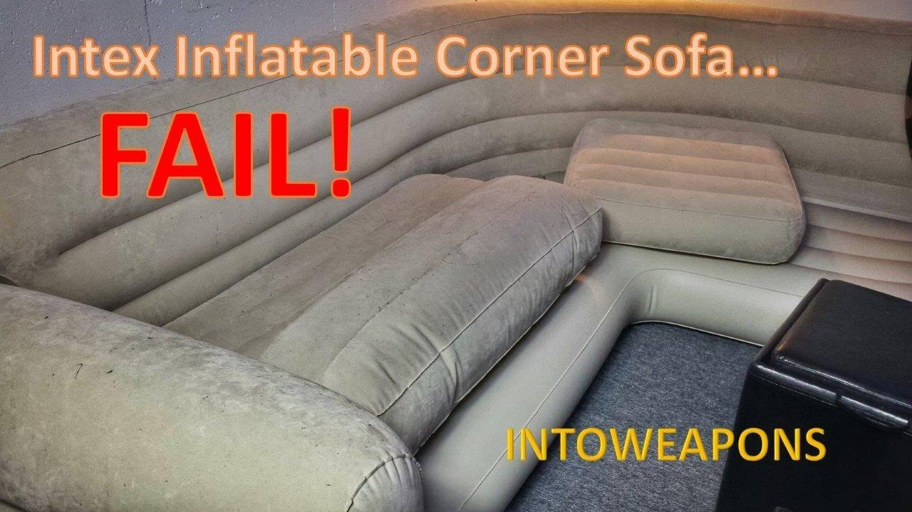 Intex Inflatable Corner Sofa 60-Day Review - Failure! - Youtube with Intex Inflatable Sofas (Image 5 of 15)
