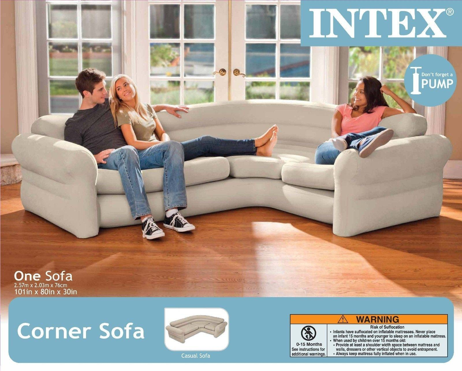 Intex Inflatable Corner Sofa Portable Modern Contemporary Air throughout Intex Air Couches (Image 7 of 15)