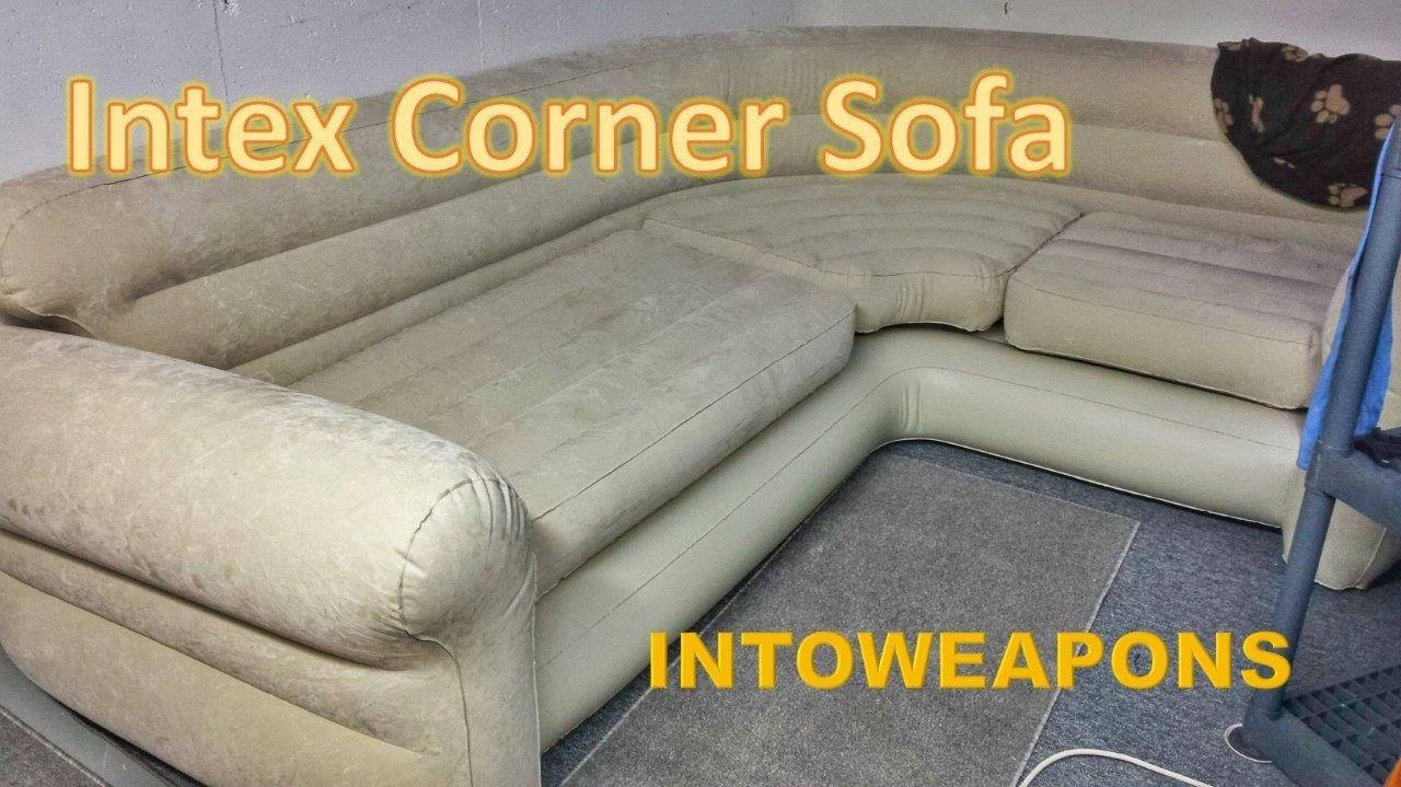 Intex Inflatable Corner Sofa Review - Budget Couch - Youtube throughout Intex Inflatable Sofas (Image 7 of 15)