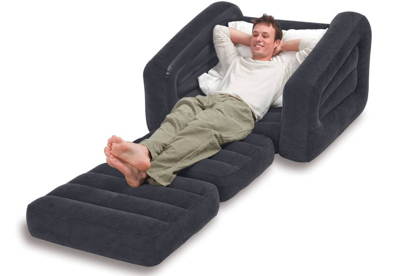 Intex Inflatable Pull-Out Chair And Twin Air Mattress intended for Intex Pull Out Chairs (Image 8 of 15)