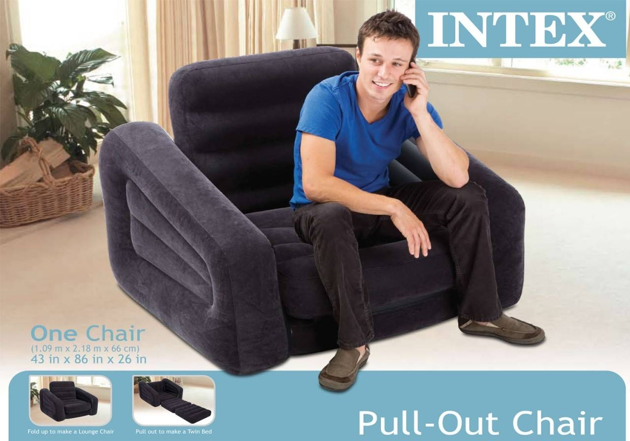Intex Inflatable Pull-Out Chair And Twin Air Mattress with Intex Pull Out Chairs (Image 9 of 15)