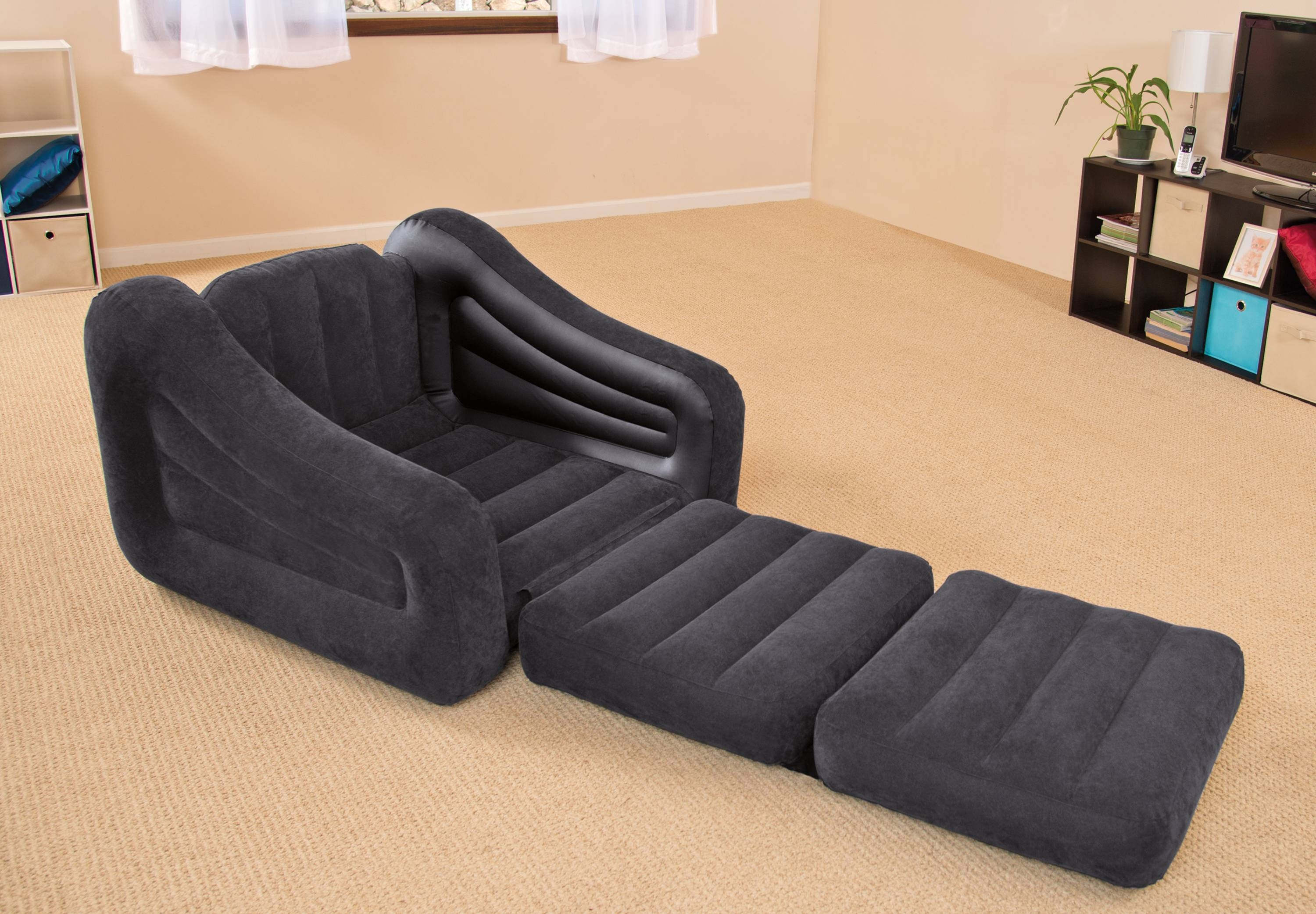 Intex Inflatable Pull-Out Chair - Walmart throughout Intex Inflatable Sofas (Image 9 of 15)