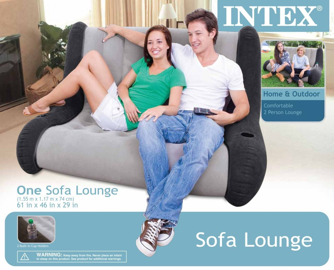 Intex Inflatable Sofa Lounge In Intex Inflatable Sofas (View 15 of 15)