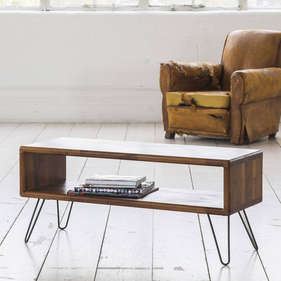 Iroko Midcentury Modern Hairpin Leg Tv Standbiggs & Quail intended for Hairpin Leg Tv Stands (Image 7 of 15)