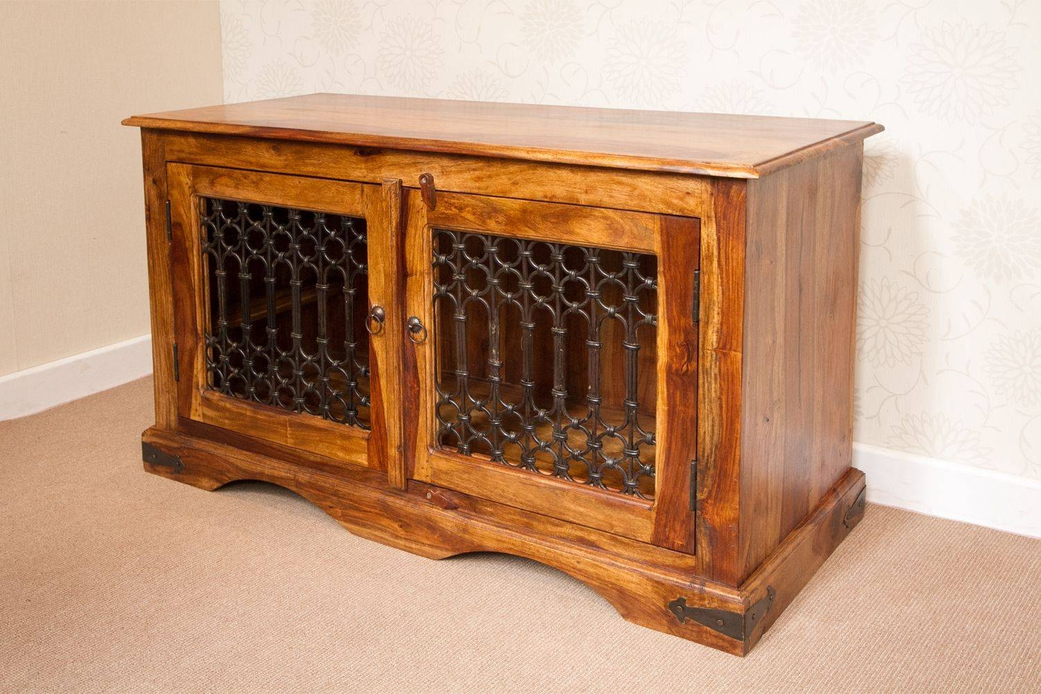 It-143 Jali Style Tv Cabinet Low Sideboard with Jali Tv Cabinets (Image 6 of 15)