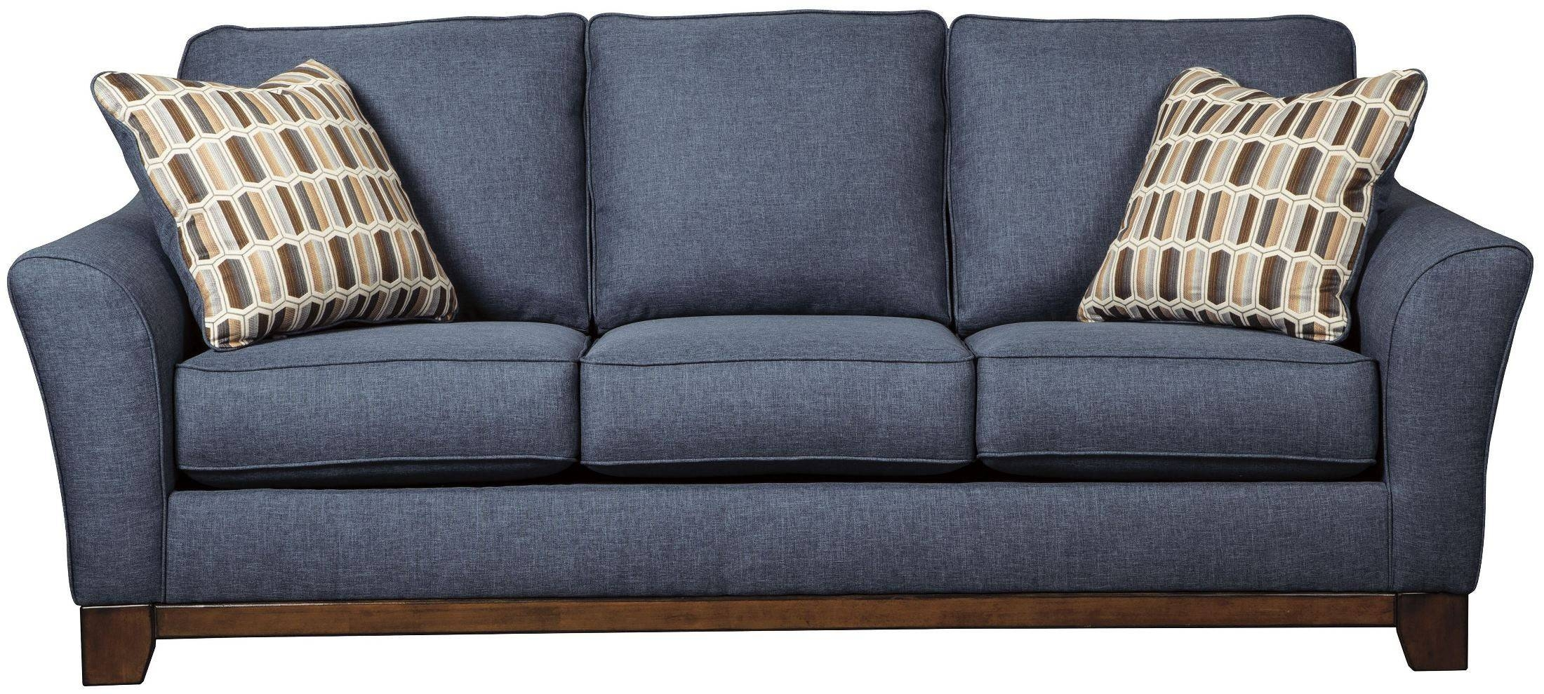 Janley Denim Sofa From Ashley | Coleman Furniture for Blue Denim Sofas (Image 11 of 15)