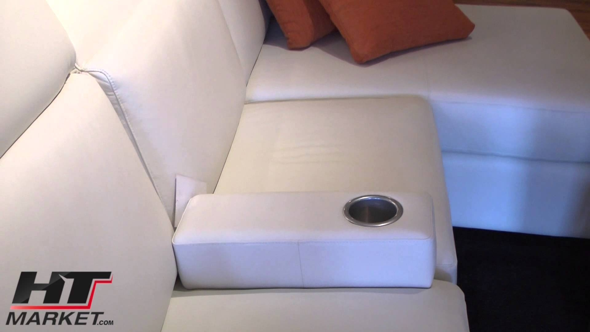 Jaymar Home Cinema Portable Armrest Cupholder - Youtube in Sofas With Drink Holder (Image 8 of 15)