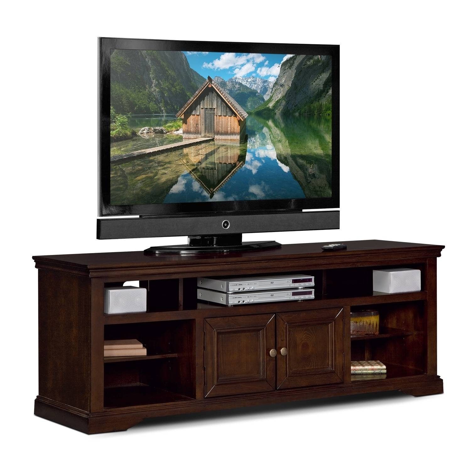 "Jenson 70"" Tv Stand - Cherry 