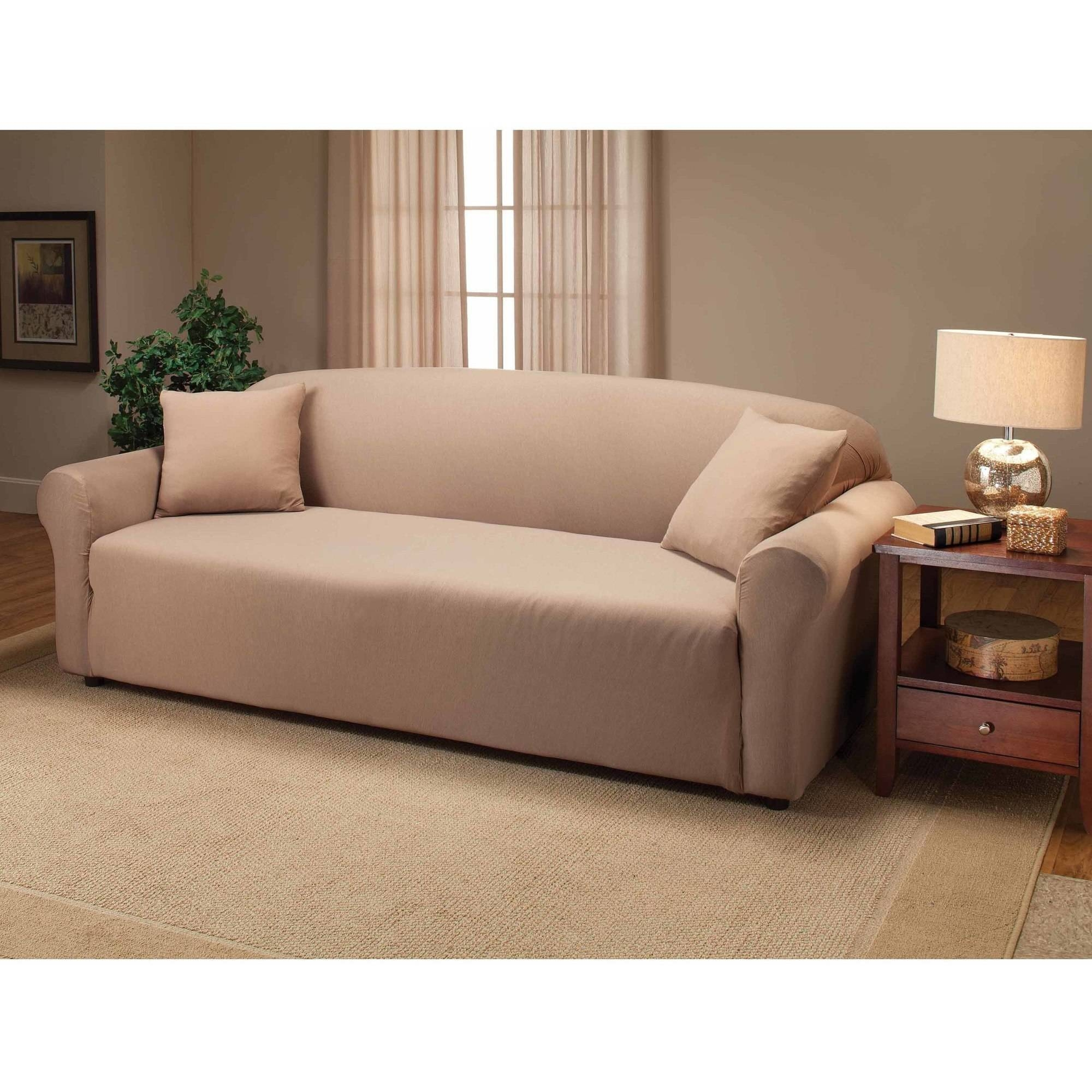 Jersey Stretch Sofa Slipcover - Walmart for Stretch Slipcover Sofas (Image 6 of 15)