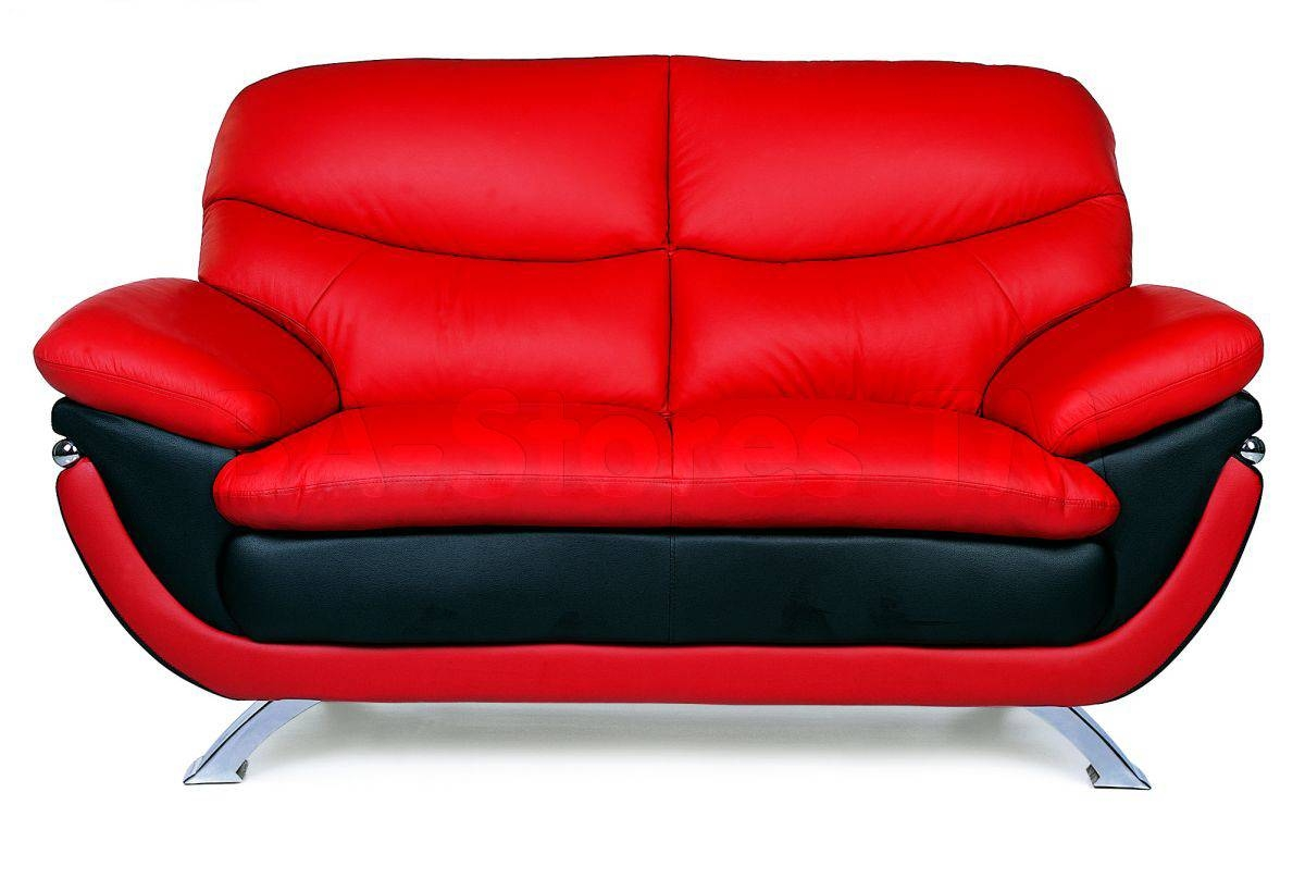Jonus Sofa And Loveseat Set | Black/red Leather | Sofas Loveseats in Black and Red Sofas (Image 10 of 15)