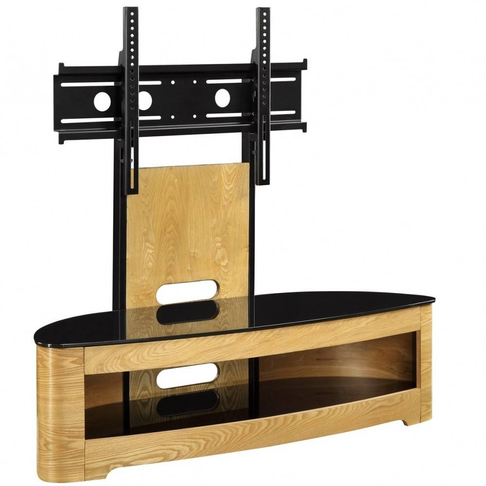 Jual Jf209-Ob Lcd Tv Stands Oak Black Glass 2 Shelf Tvs 40 Up To 55 regarding Plasma Tv Stands (Image 6 of 15)