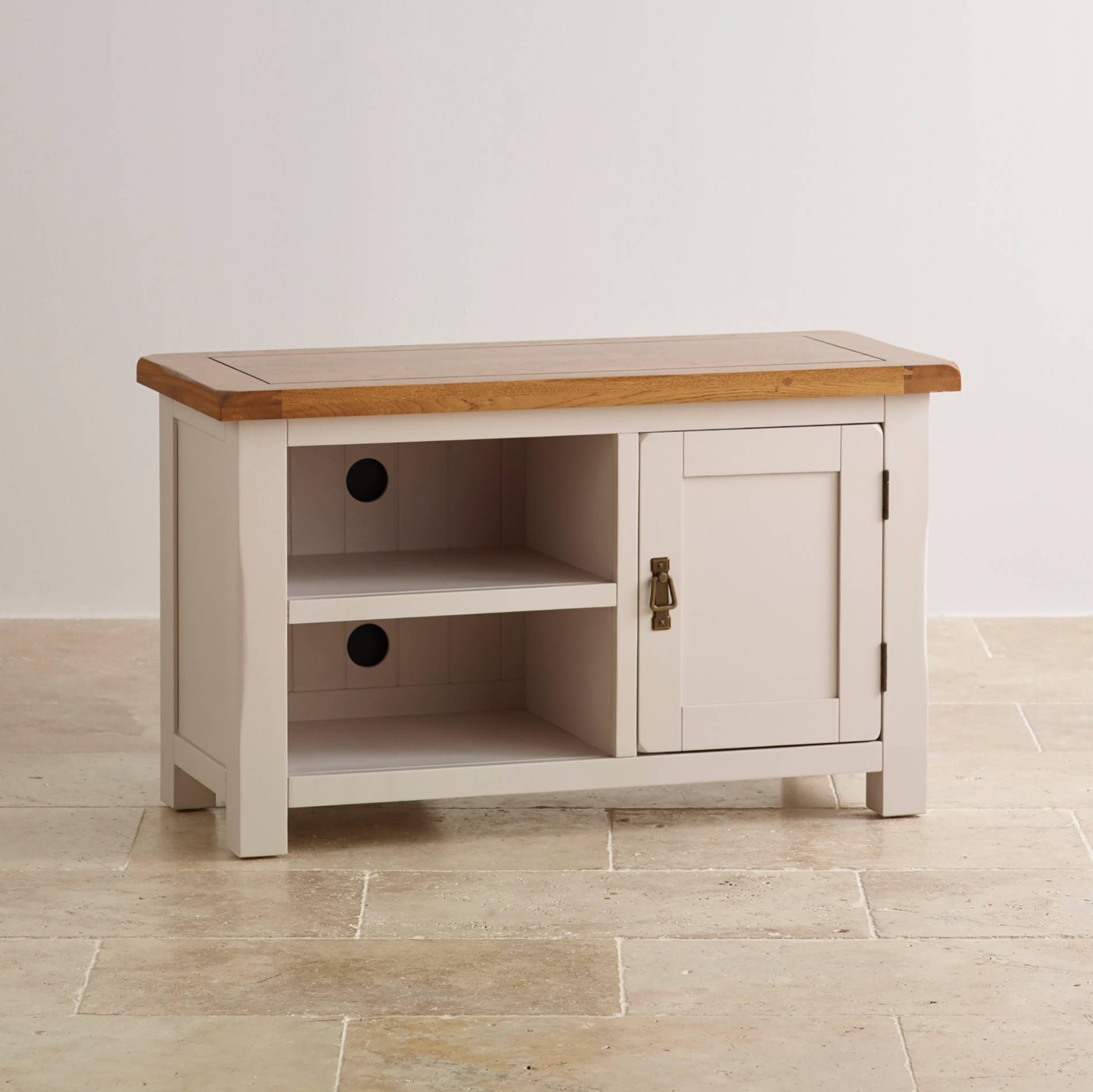 Kemble Tv Cabinet In Painted Solid Oak | Oak Furniture Land with regard to White Painted Tv Cabinets (Image 10 of 15)