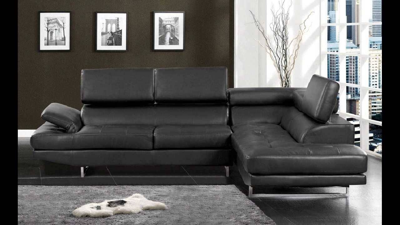 Kemi Modern Style Black Bonded Leather Sectional Sofa With regarding Black Modern Sectional Sofas (Image 5 of 15)