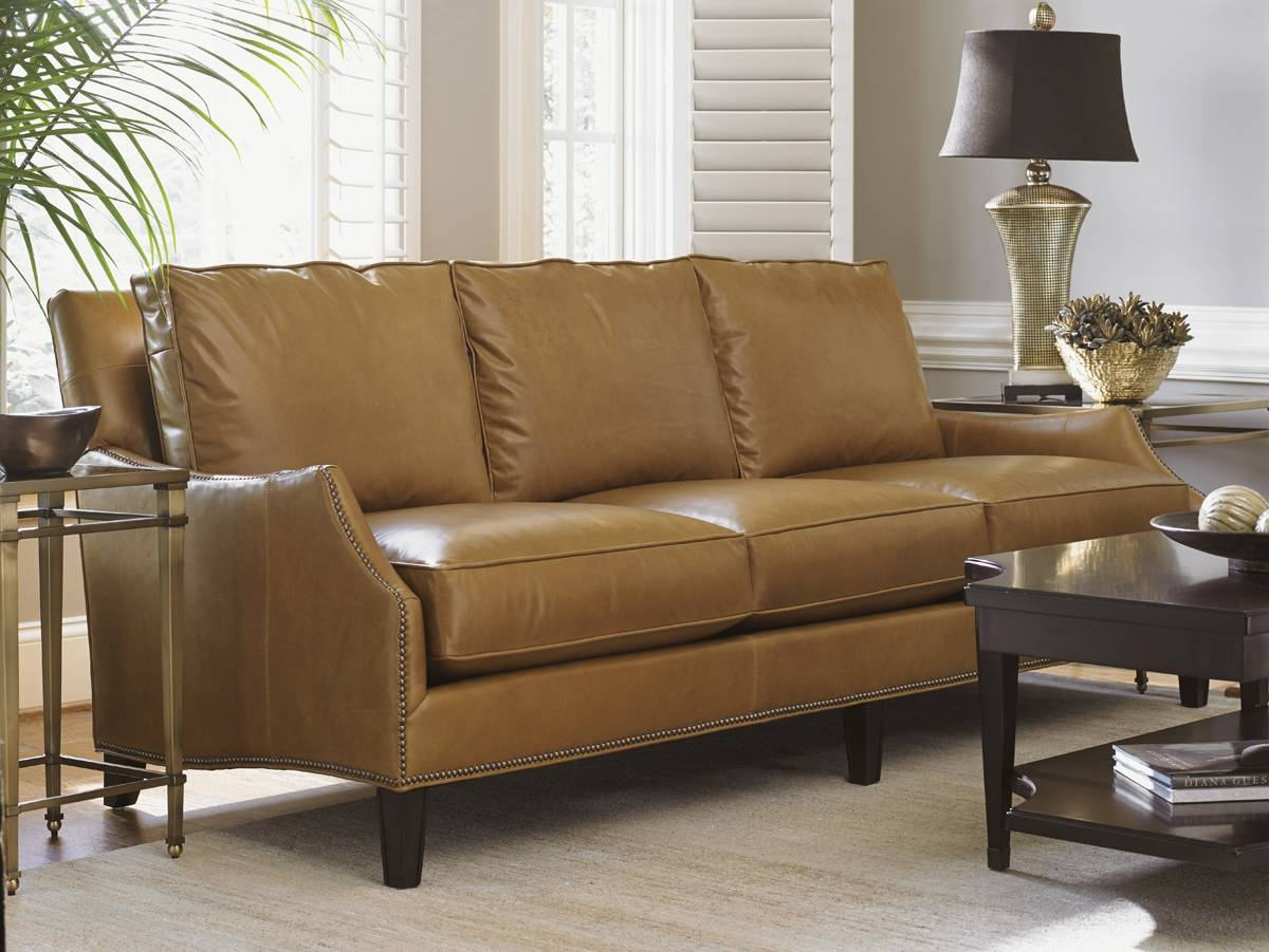 Kensington Place Ashton Leather Sofa | Lexington Home Brands in Ashton Sofas (Image 11 of 15)