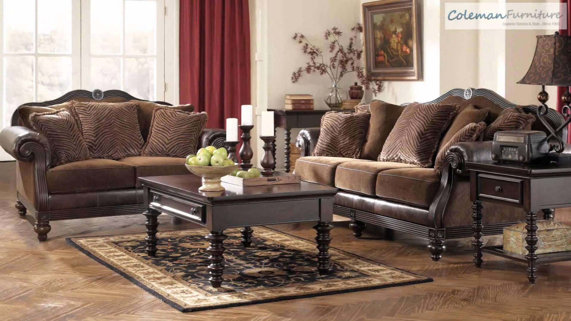 Key Town Truffle Living Room Furniture From Millenniumashley pertaining to Bradington Truffle (Image 9 of 15)