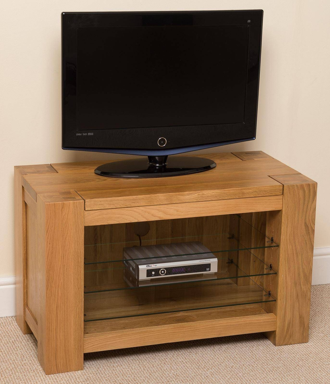 Kuba Solid Oak Tv Unit Cabinet | Free Uk Delivery for Chunky Tv Cabinets (Image 5 of 15)