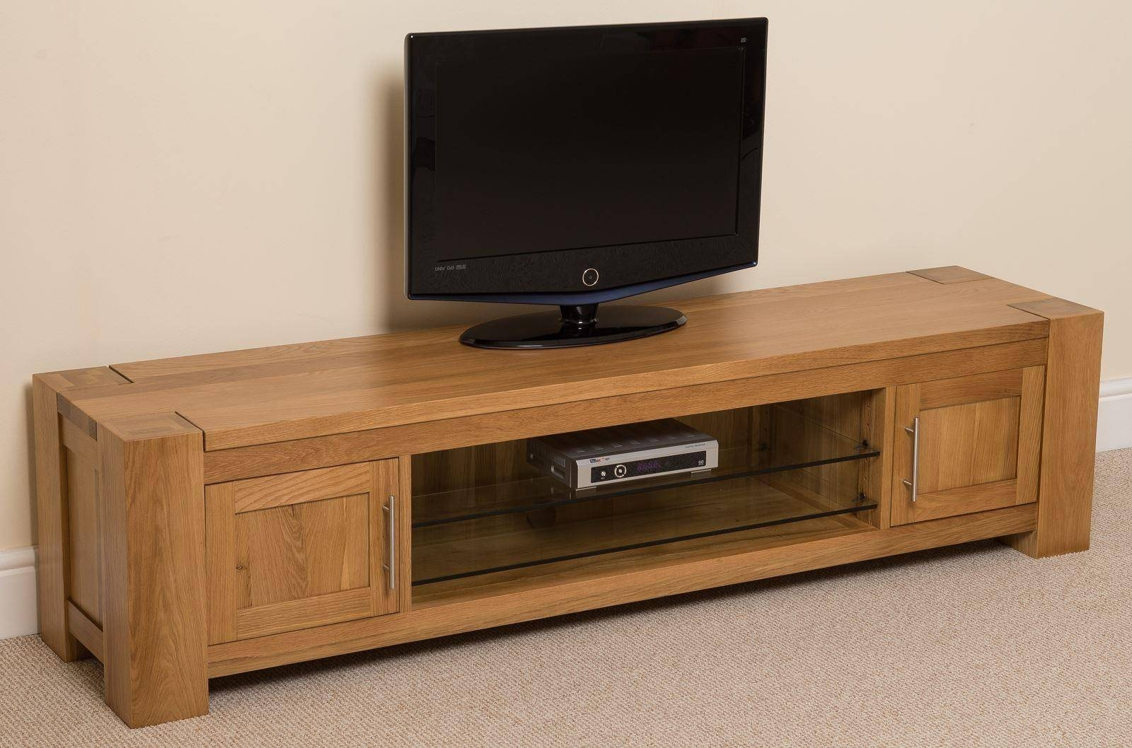 Kuba Solid Widescreen Tv Cabinet | Modern Furnitur Direct within Widescreen Tv Cabinets (Image 7 of 15)