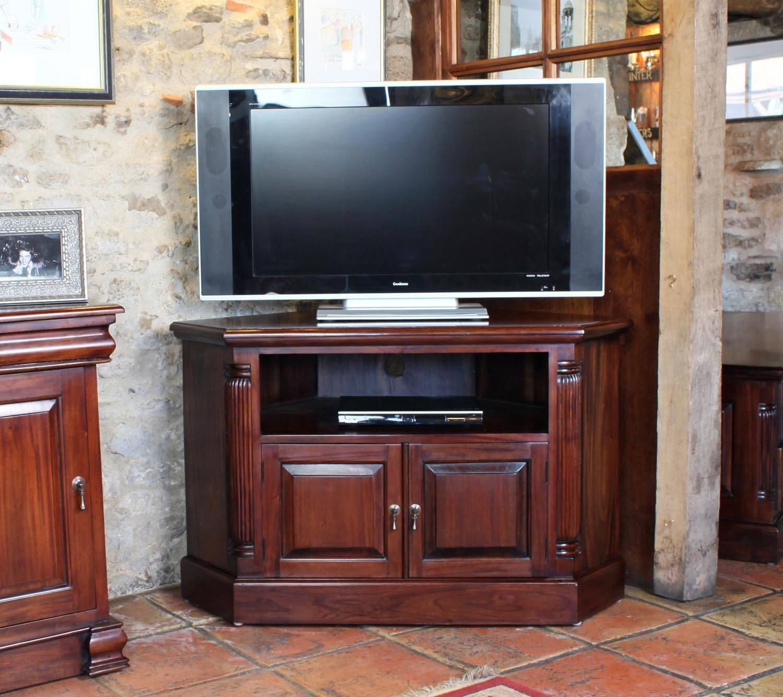 La Roque Mahogany Corner Television Cabinet (Imr09B) inside Mahogany Corner Tv Cabinets (Image 11 of 15)