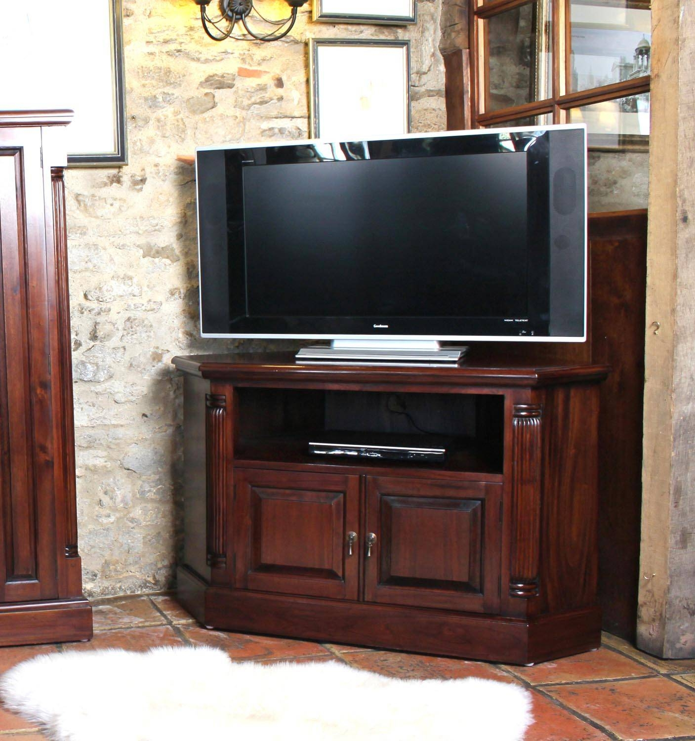 La Roque Mahogany Corner Television Cabinet (imr09b) With Mahogany Tv Cabinets (View 11 of 15)