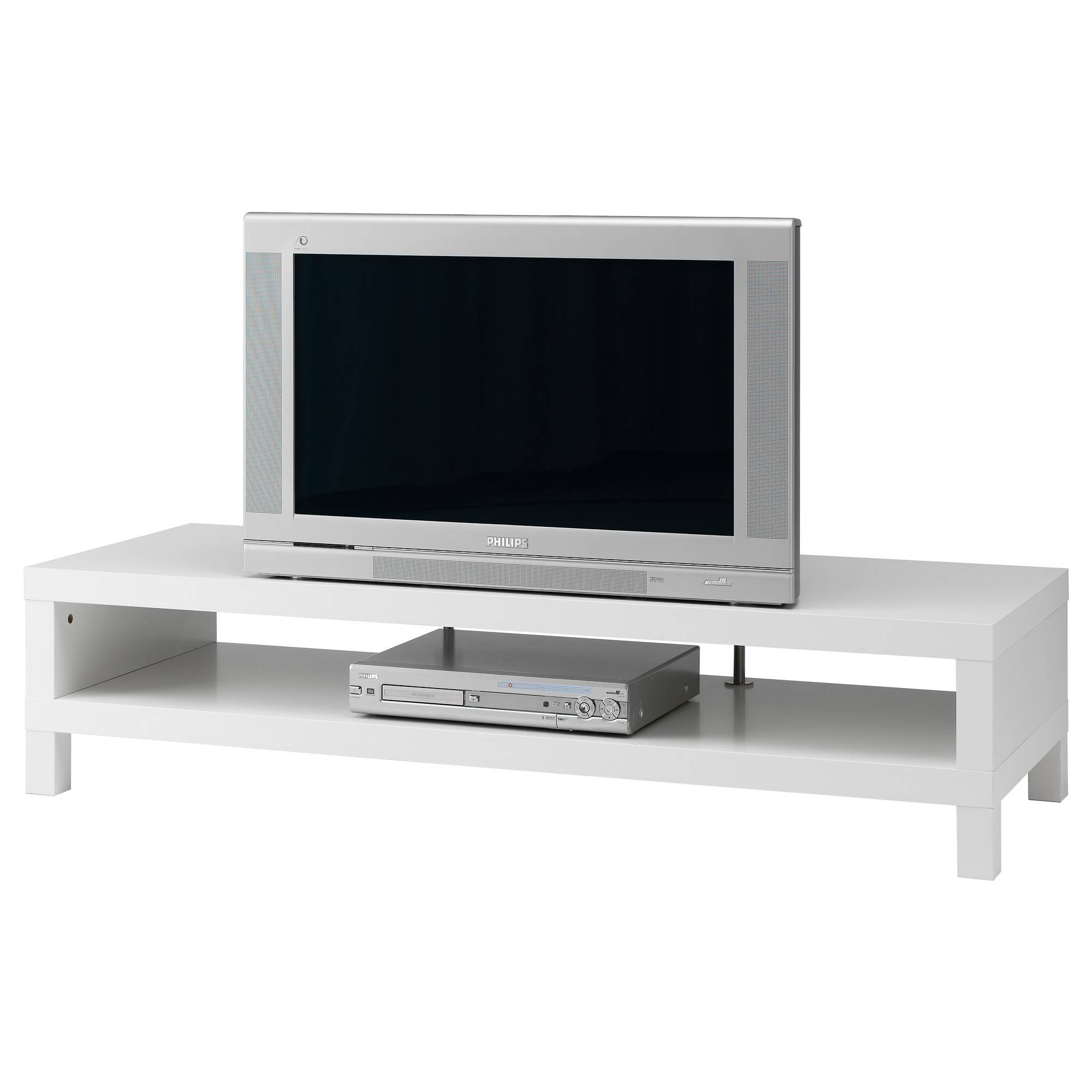 Lack Tv Bench White 149X55 Cm - Ikea with Corner Tv Unit White Gloss (Image 5 of 15)